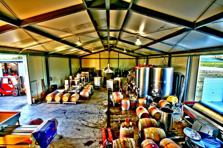 Inside view of the winery