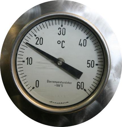 Tank temperature of 16 degrees centigrade.