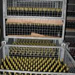 Viel verschwendeter Freiraum in den Gitterboxpaletten